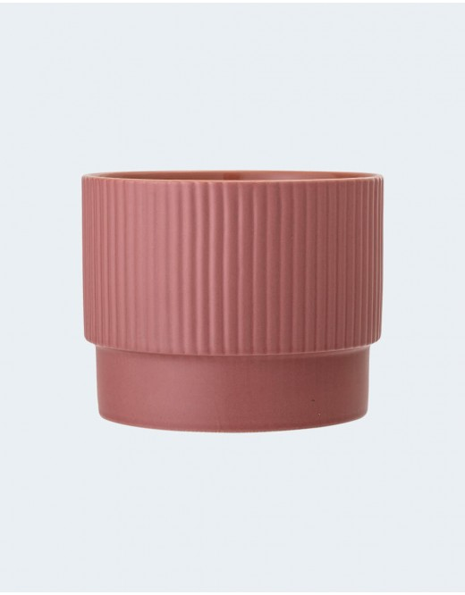 Cache-pot en céramique rose