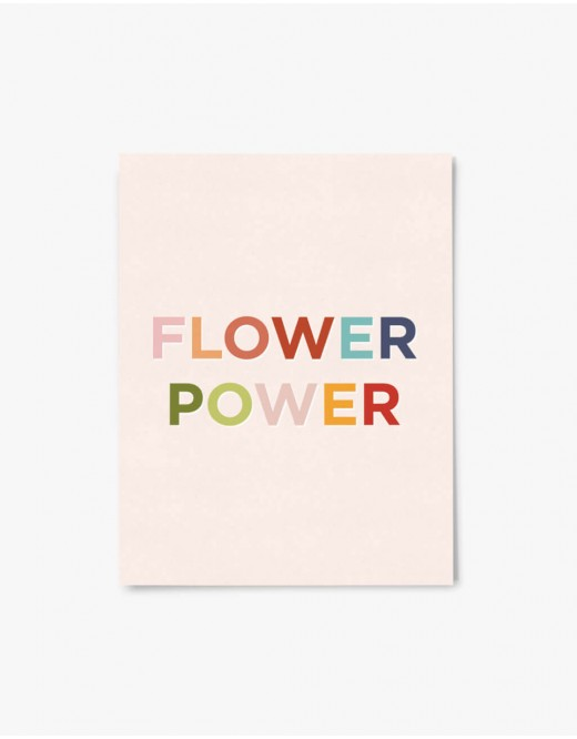 Carte Flower Power